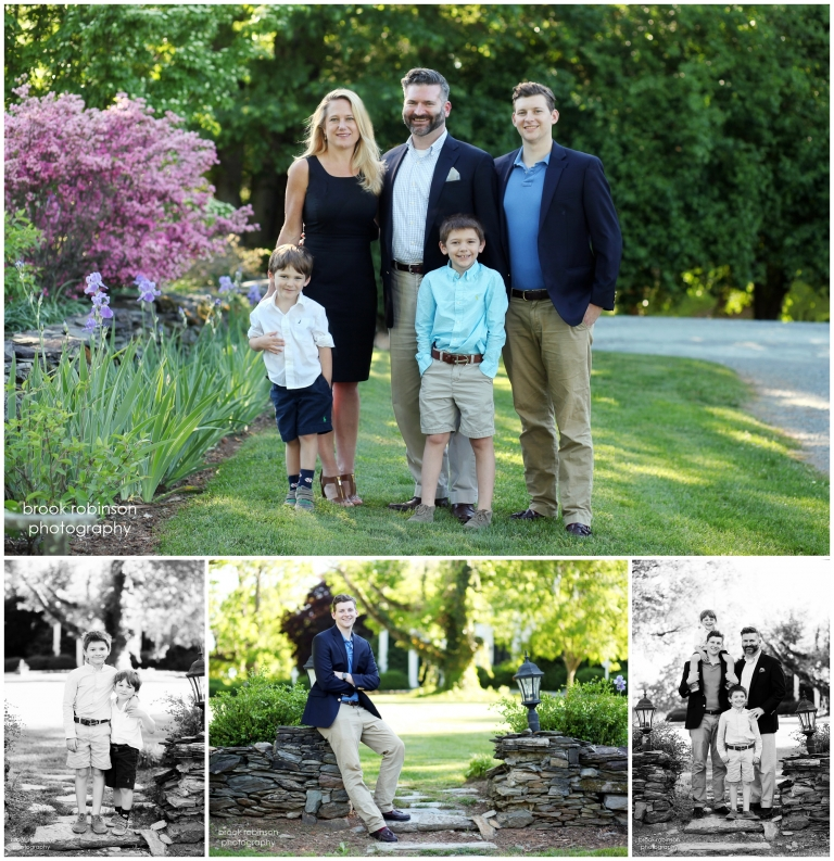 charlottesville family portraits in albemarle county clifton inn anniversary wedding brothers vowel renewal boars head ednam forest