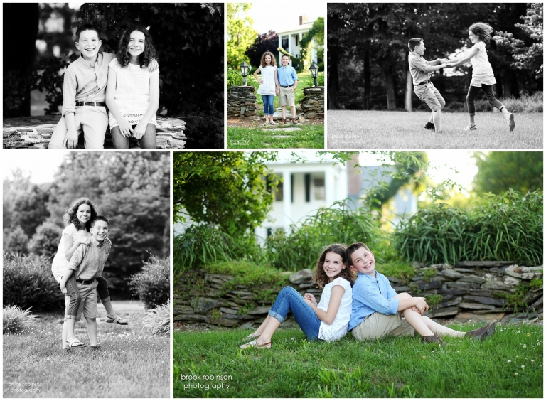 charlottesville family portraits clifton inn albemarle county central virginia summer spring siblings parents pictures photographer cookies chocolate chip