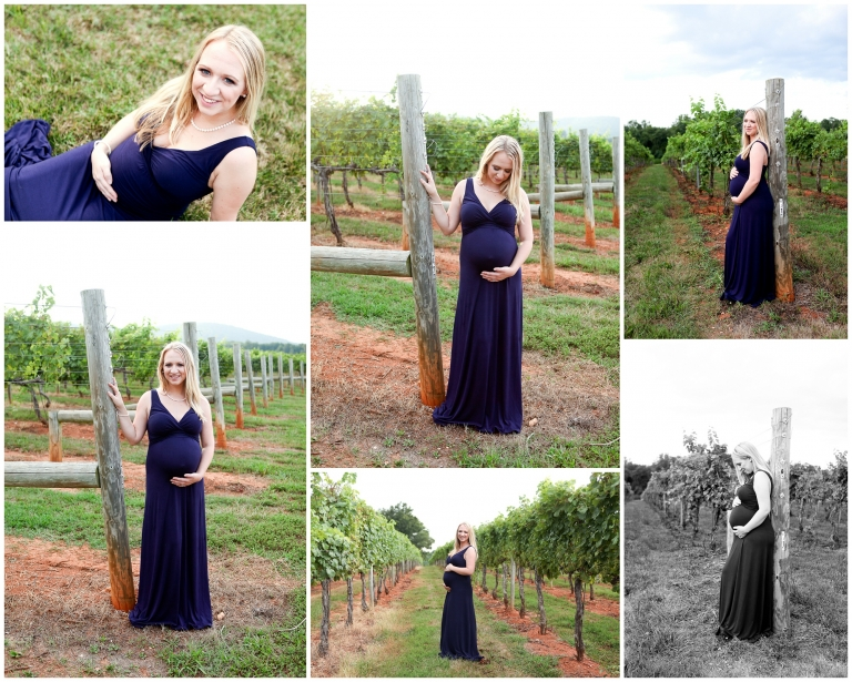 charlottesville maternity portraits baby boy keswick vineyard albemarle county romantic summer sunset shilouette photography
