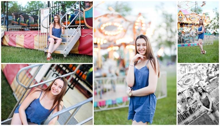 fluvanna carnival county fair senior portrait teen teenager girl pictures charlottesville photographer fun dusk FCHS