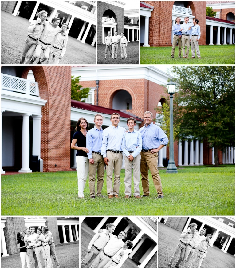 Charlottesville Family Summer Portraits Albemarle County Brothers graduate college senior darden uva virginia natural light brotherly love