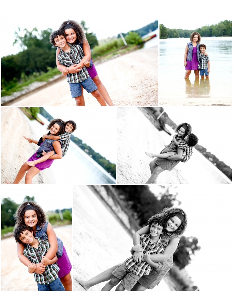 Fluvanna Family Summer Portraits at Lake Monticello Beach Photographer charlottesville photographer pictures siblings sand fun cville