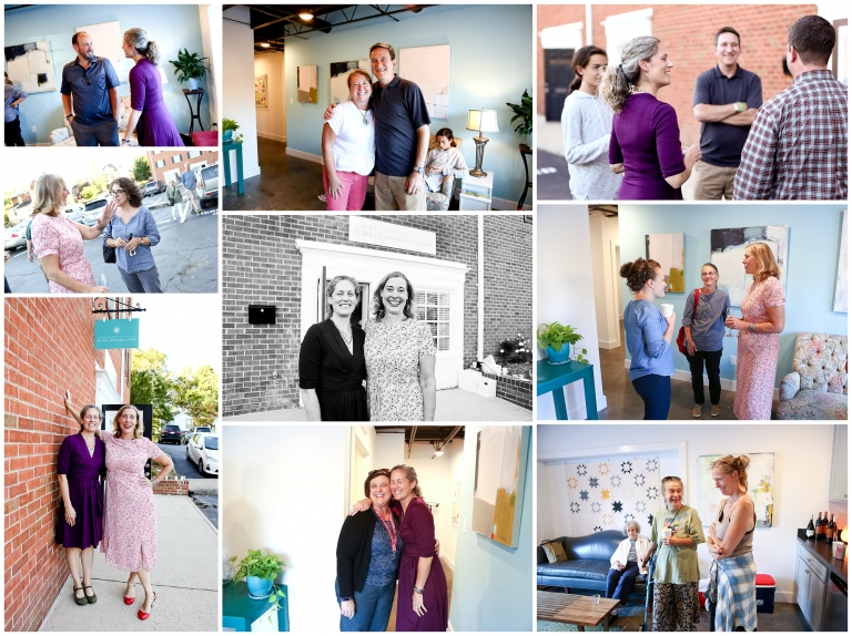 Grand Opening Charlottesville Direct Primary Care Event Photography cville photographer medical practice doctor old fashioned medicine physicians health