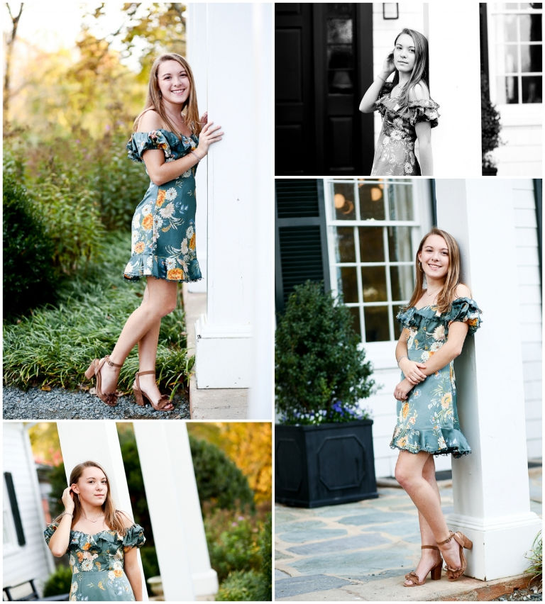 Charlottesville Senior Covenant High School Student Fall Portraits in Albemarle County Clifton Autumn Girl Teen Teenager Beautiful