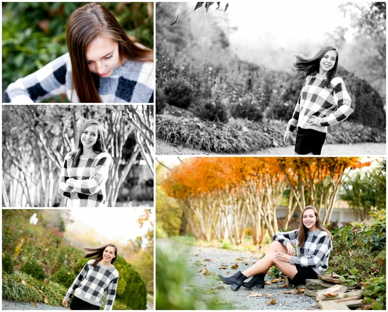 Covenant High School Senior Portraits in Charlottesville Fall Albemarle Clifton Autumn TCS Cville Photographer Photography Pictures Teenager Teen Girl