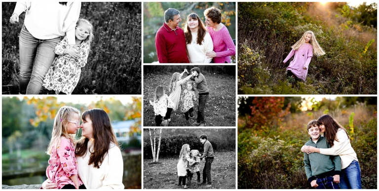 Charlottesville Extended Family Fall Portraits in Albemarle County grandparents grandmother grandfather grandchildren photographer photography pictures
