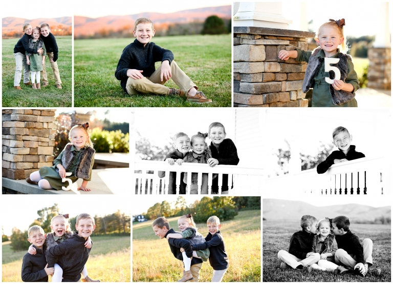 Waynesboro Extended Family Fall Portraits with Puppy in Augusta County Charlottesville photographer grandparents cville fluvanna pictures photography autumn