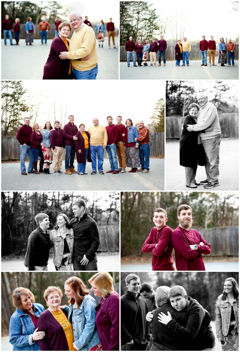 Extended Family Portraits at Lake Monticello Photographer pictures charlottesville photography grandparents grandchildren together winter fluvanna