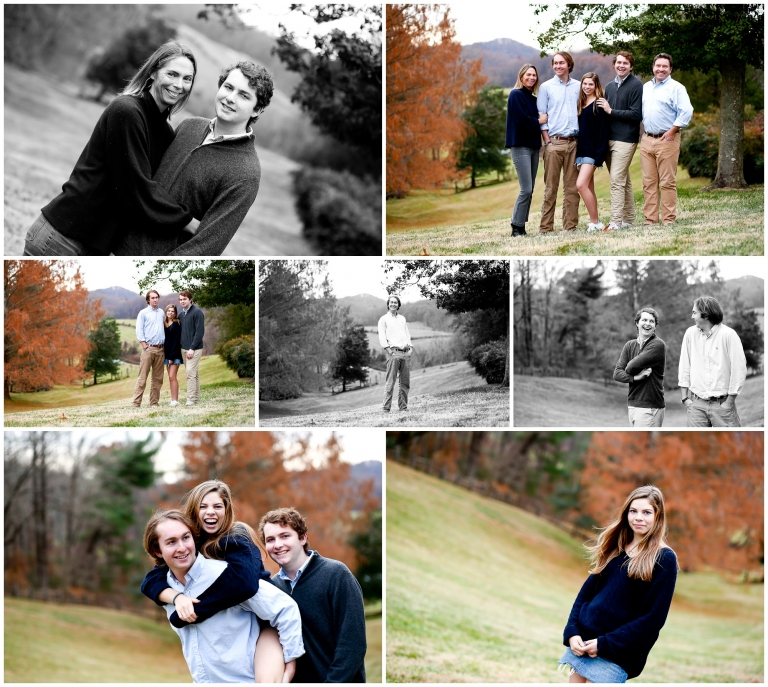 California Family Winter Portraits in Charlottesville Photographer Cville Albemarle Photography Pictures Teenage Adult Children Teens Brothers Ivy Crozet