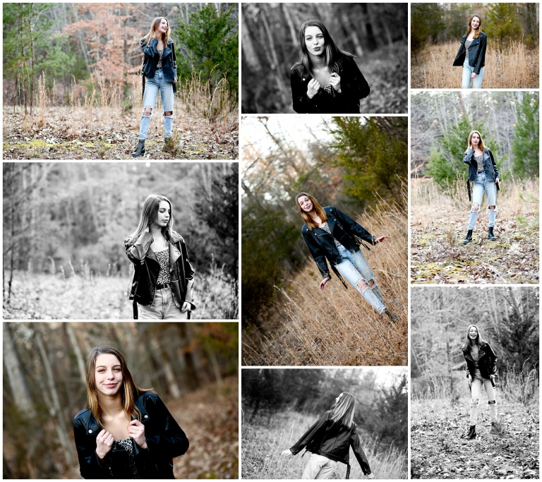 Winter Teen Girl Portrait Session in Fluvanna charlottesville photographer pictures cville photography teenager genz generation z classic rock